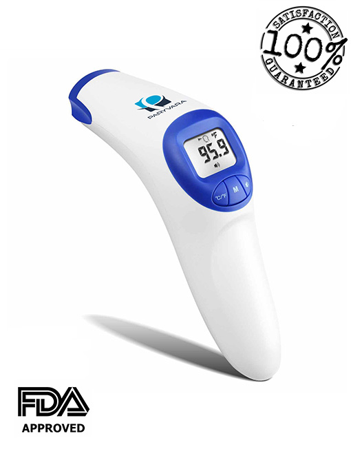 Toddlers and Adults by Paryvara Measure Room Temperature and Object FDA Approved Baby Bottle Digital Infrared Forehead Thermometer Suitable for Baby